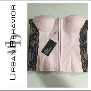 URBAN BEHAVIOUR Pink Bustier Top (BNWT)